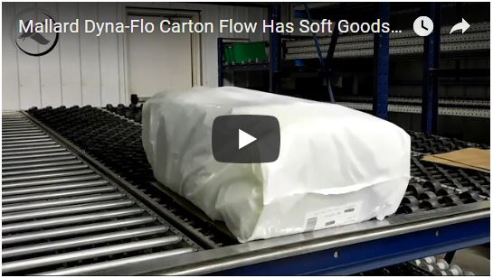 Mallard Dyna-Flo Carton Flow for Soft Goods Storage