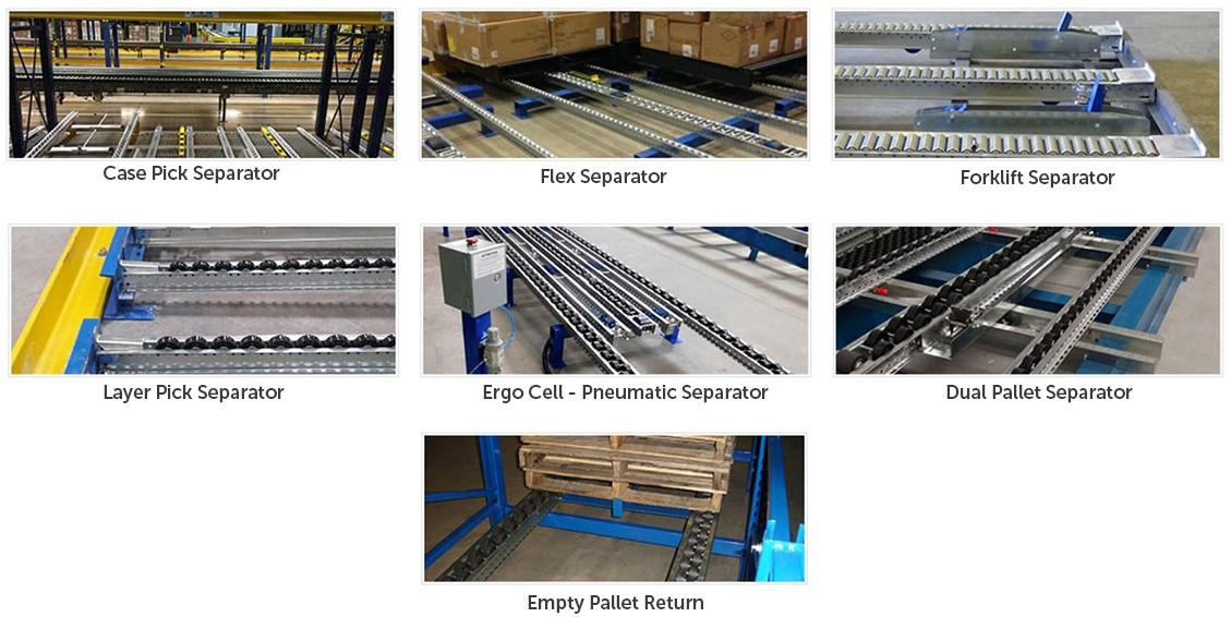 Pallet Flow Separators Mallard Manufacturing