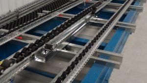 Dual Pallet Separator for Pallet Flow Mallard Manufacturing