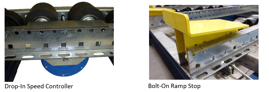 Pallet Flow Rack Brakes and End Stops - Mallard Manufacturing