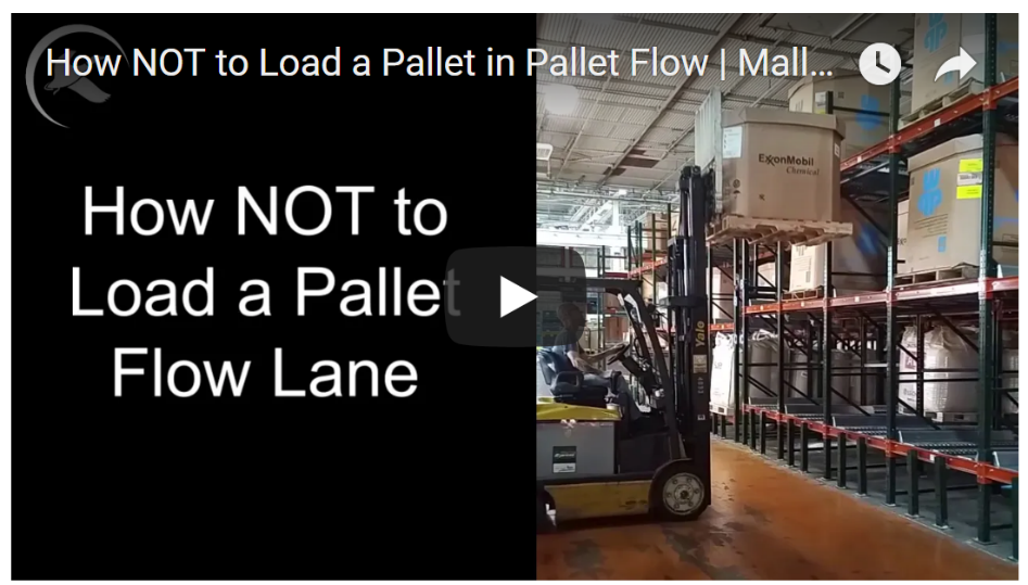 Improper Pallet Flow System Loading