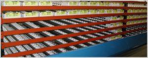 Flo-Guide Carton Flow Tote Storage - Mallard Manufacturing