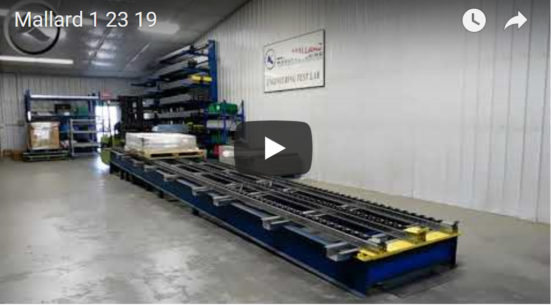 Pallet Flow Rack Test - Mallard Manufacturing