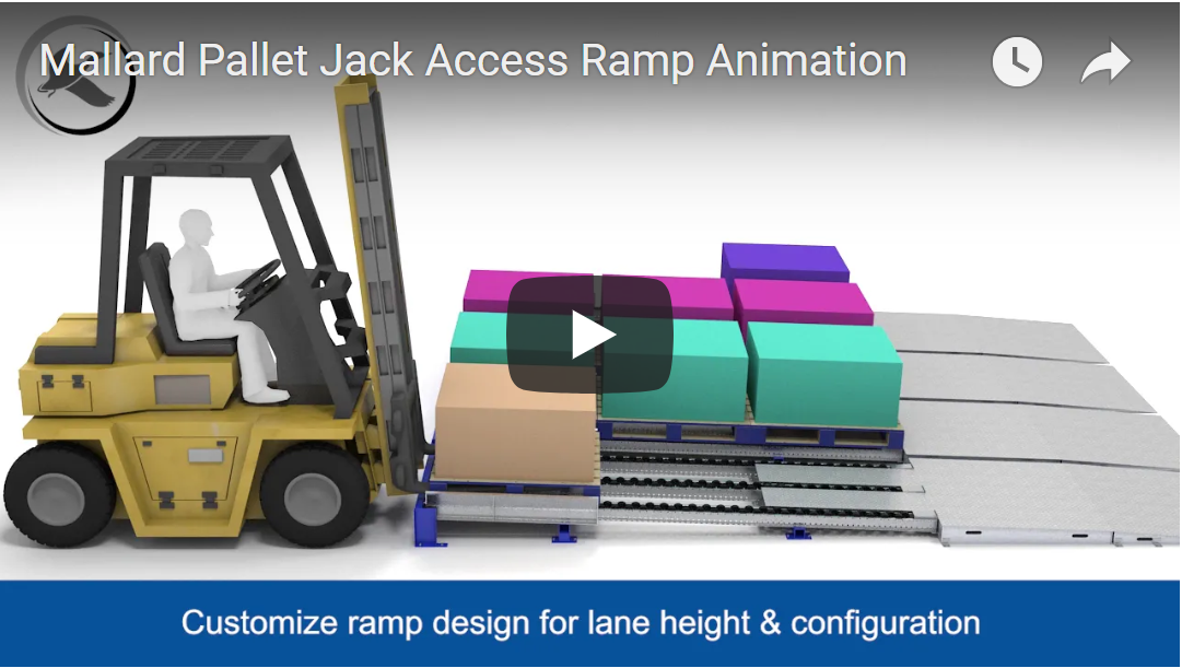 Pallet Jack Access Ramp for Pallet Flow - Mallard Manufacturing