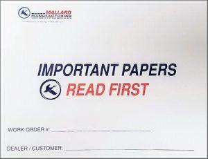 Mallard pallet flow rack order envelope