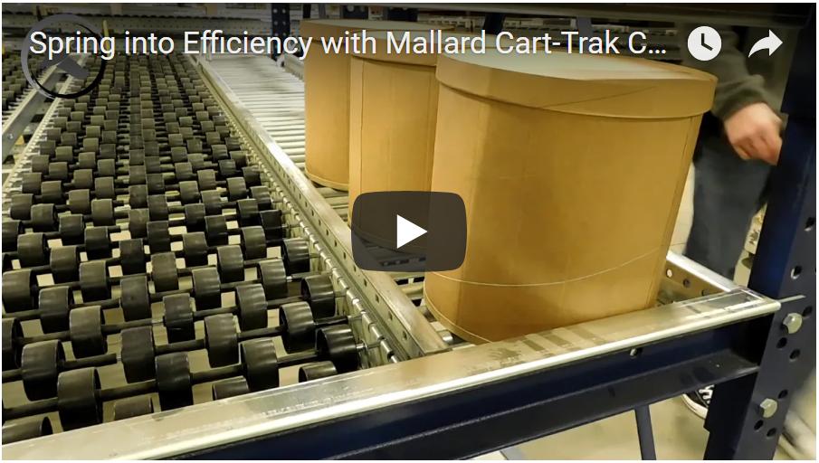 Cart-Trak Carton Flow Rack - Mallard Manufacturing