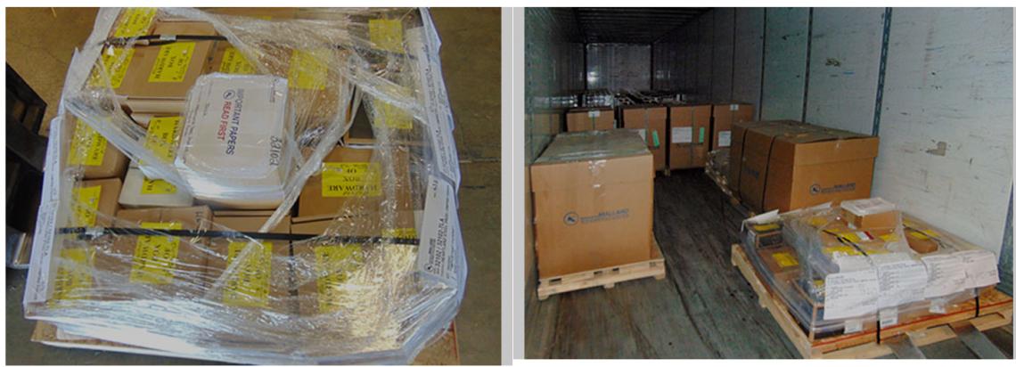 Mallard Pallet Flow Rack - Loaded Pallets