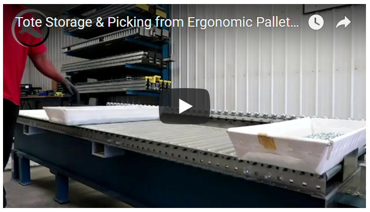 Pallet Flow Rack Tote Storage - Mallard Manufacturing