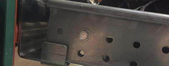 Mallard Mfg. Carton Flow Rack Mounting Bracket