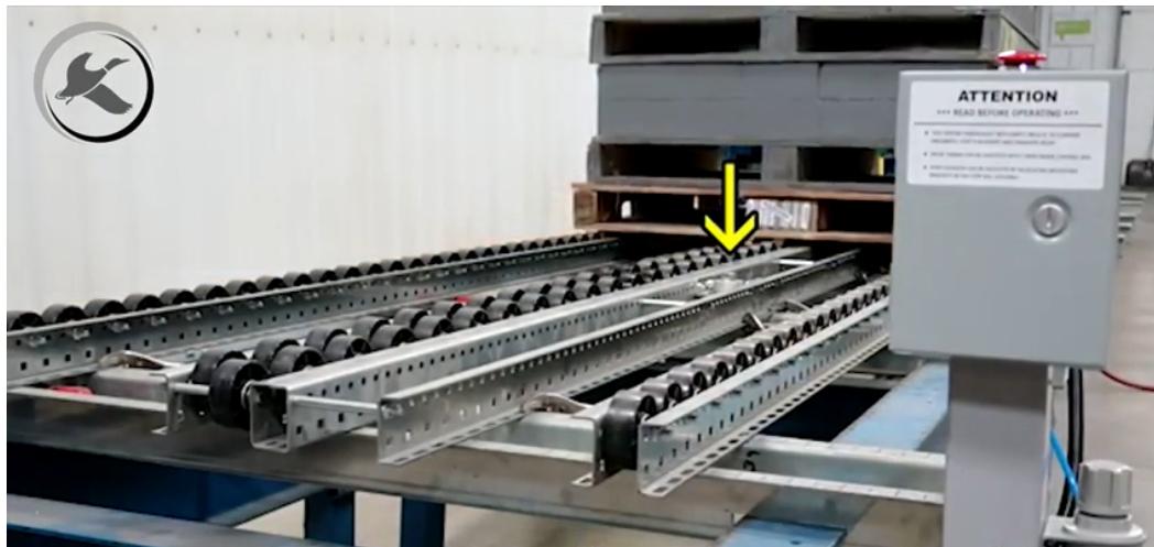 Pneumatic Pallet Flow Release - Mallard Manufacturing