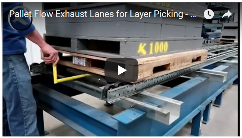 Pallet Flow Exhaust Lane - Mallard Manufacturing