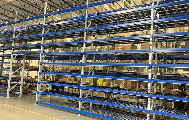 Dyna-Flo HD Carton Flow Rack - Mallard Manufacturing