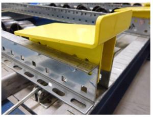Pallet Flow Ramp Stops - Mallard Manufacturing