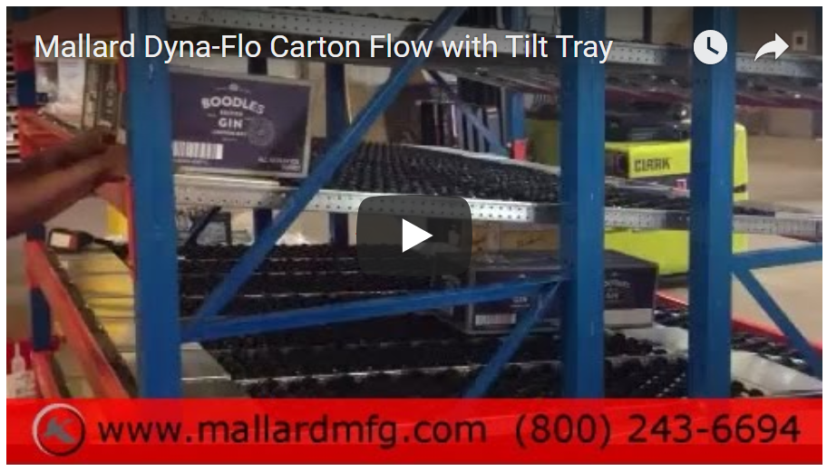 Dyna-Flo Carton Flow with Tilt Tray - Mallard Manufacturing