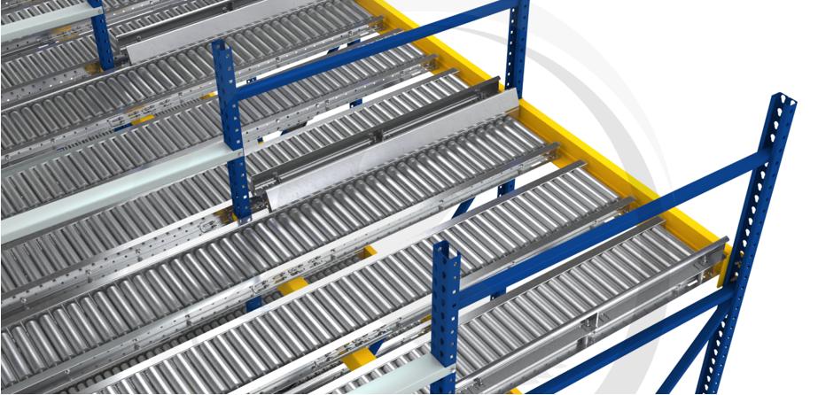 Split-Roller Pallet Flow - Mallard Manufacturing