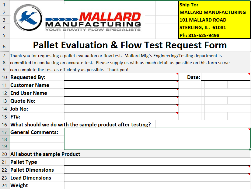 Mallard Manufacturing - Gravity Flow Test Lab