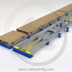 Dual Pallet Separators for Pallet Flow - Mallard Manufacturing