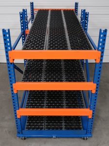 Mobile Carton Flow Rack - Mallard Manufacturing