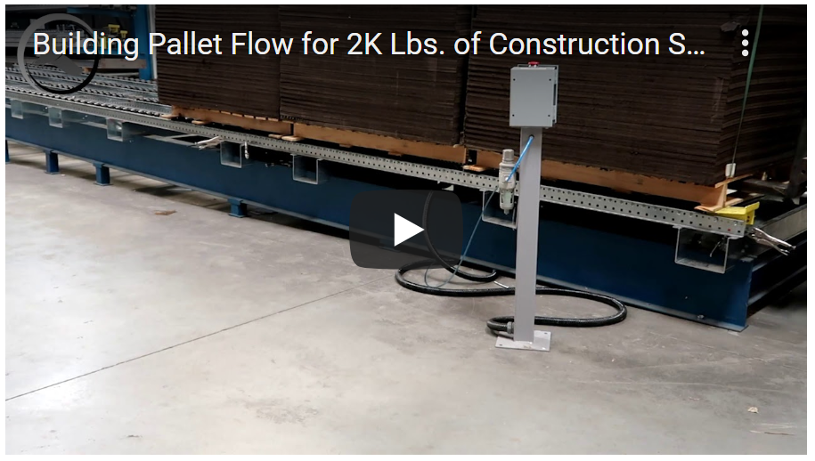 Pallet Flow Rack- Mallard Manufacturing