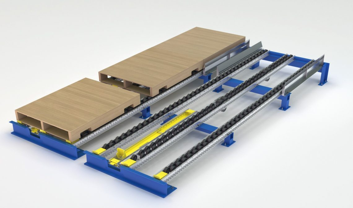 Flex Separator for Pallet Flow - Mallard Manufacturing