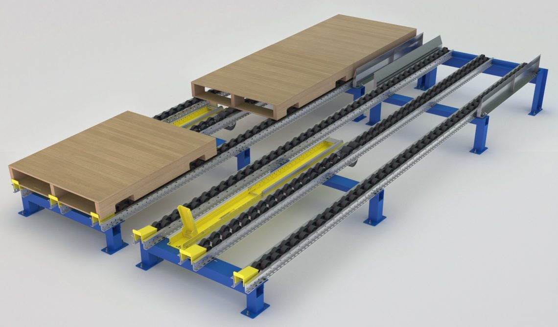Layer Pick Separator for Pallet Flow - Mallard Manufacturing