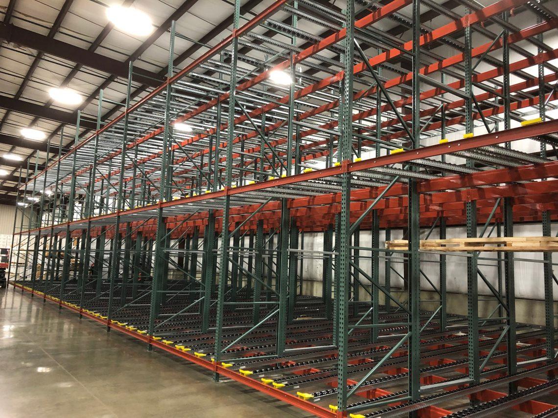 Push-Back Pallet Flow System - Mallard Manufacturing