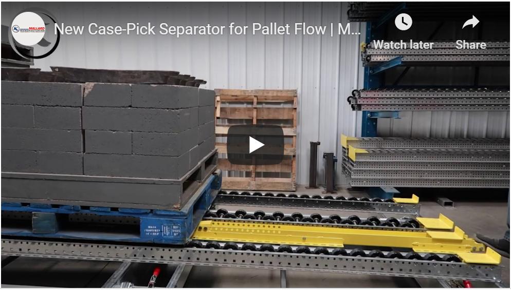 Case-Pick Pallet Separator - Mallard Manufacturing