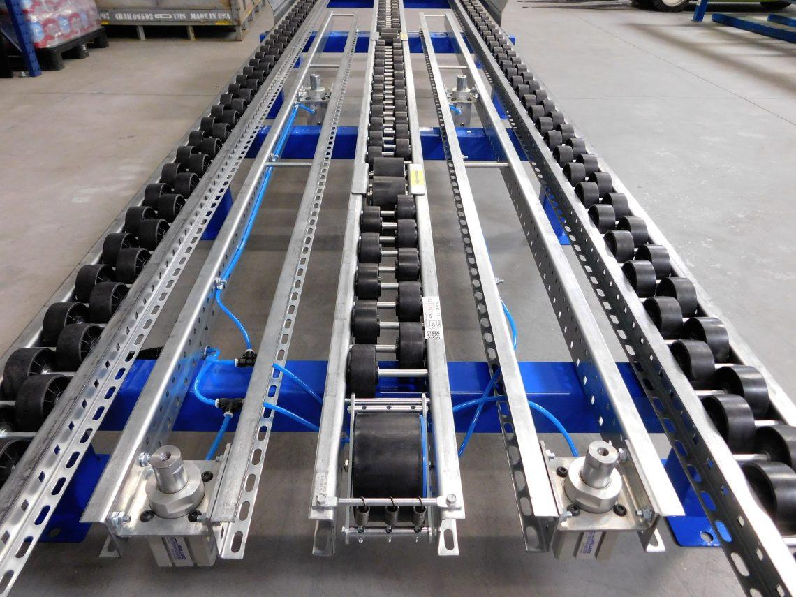 Pneumatic Pallet Separator for Pallet Flow - Mallard Manufacturing