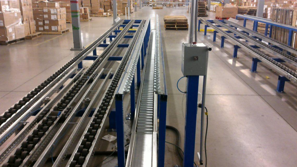 Pallet Building Pallet Flow Rack - Mallard Manufacturing