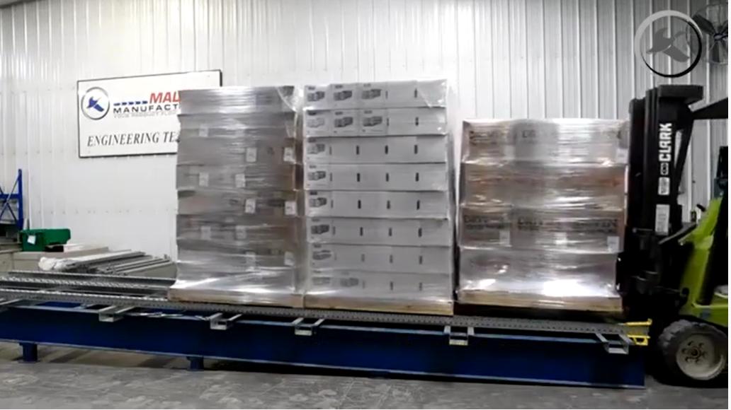 Steel Skate Wheel Pallet Flow - Mallard Manufacturing