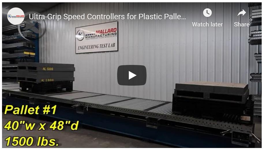 Full Roller Pallet Flow Rack - Mallard Manufacturing