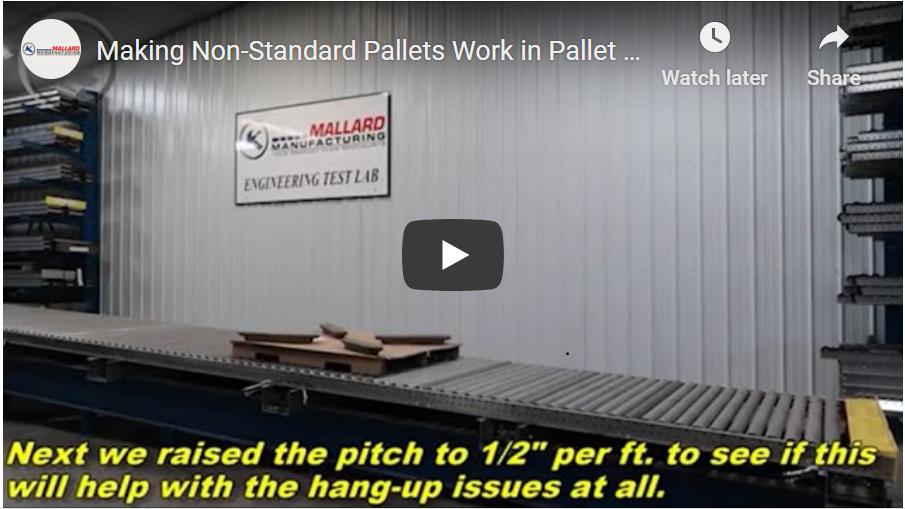 Pallet Flow Rack for Cardboard Pallets - Mallard Manufacturing