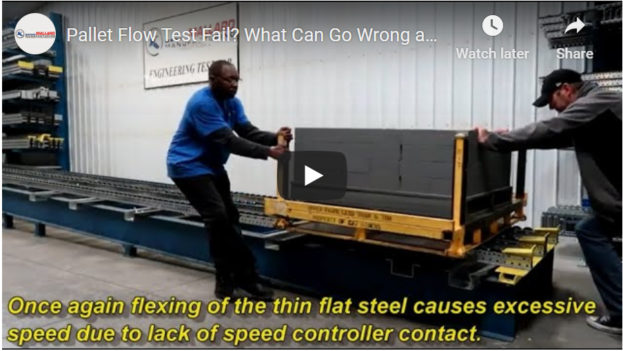 Pallet Flow Rack Video - Mallard Manufacturing