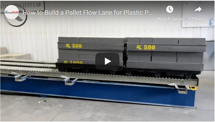 Split-Roller Pallet Flow Rack - Mallard Manufacturing