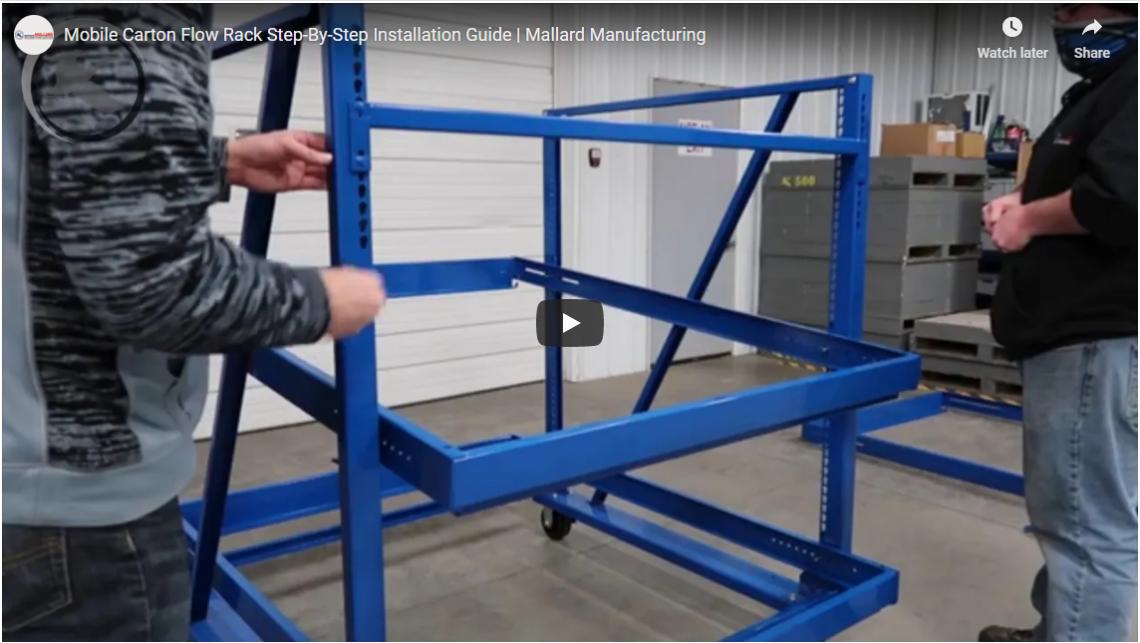 Carton Flow Work Cell Mobile Carts - Mallard Manufacturing