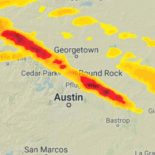 A map of Austin Texas recent hail storm