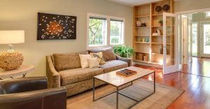 A beautiful, comfortable living space in a new home.