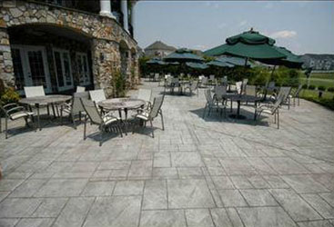 Stamped concrete patio for a Baltimore restaurant.