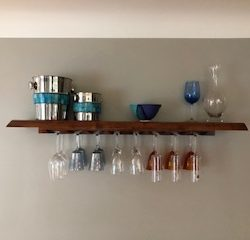 Wine shelf from the construction specialists at Masterworks Contracting in Metro Detroit.