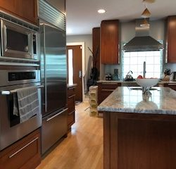 The general contractors from Masterworks Contracting in Metro Detroit built this incredible kitchen.