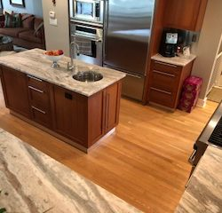 Bird's-eye view of incredible kitchen from the general contractors at Masterworks Contracting in Metro Detroit.