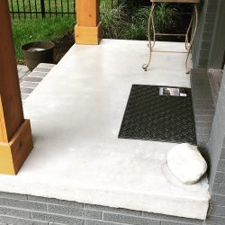 Newly built concrete patio from the construction specialists at Masterworks Contracting in Metro Detroit.