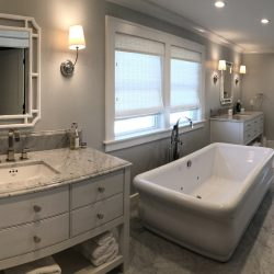 Incredible master bathroom from the construction specialists at Masterworks Contracting in Metro Detroit