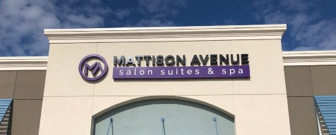 Image of the Storefront Sign Mattison Avenue Salon Suites & Spa in Clearwater