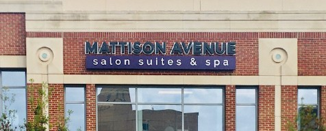 Image of storefront sign at Mattison Avenue Sugarland