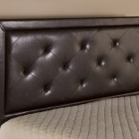 brown faux leather headboards Newington