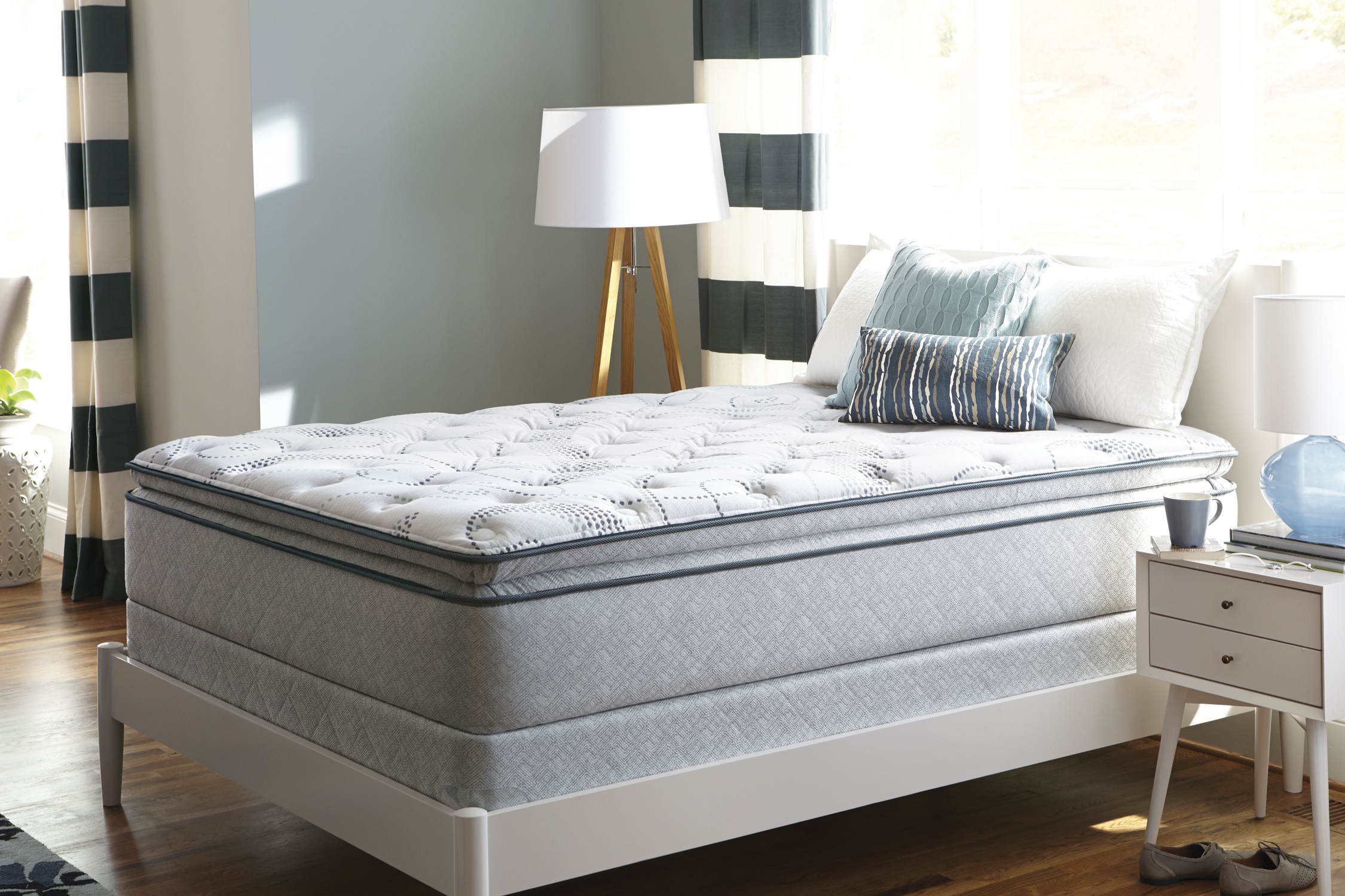 Pillow top mattress from Mattress for LESS in Newington.