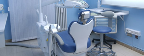 an image of a dental chair in an appointment room