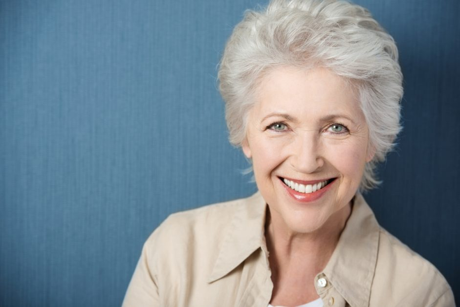 an image of an older woman smiling