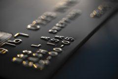 close up photograph of a black credit card